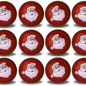 Santa Imprint Novelty golf balls 12 pack