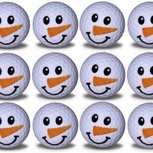 Snowman Imprint Novelty golf balls 12 pack