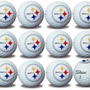 Steelers Refinished Titleist ProV1 Golf Balls