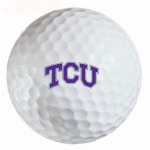 Texas Christian Horned Frogs Refinished Titleist ProV1 Golf Balls