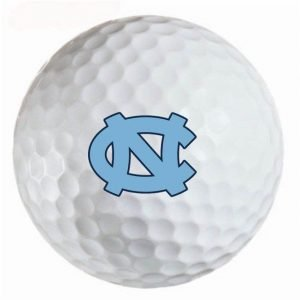 UNC Tarheels Refinished Titleist ProV1 Golf Balls