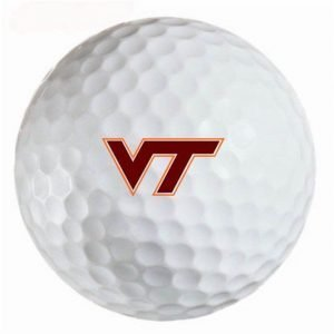 Virginia Polytechnic Hokies Refinished Titleist ProV1 Golf Balls
