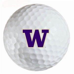 Washington Huskies  Refinished Titleist ProV1 Golf Balls