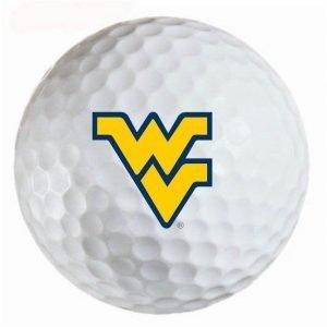West Virginia Mountaineers Refinished Titleist ProV1 Golf Balls