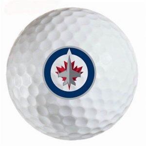 Winnepeg Jets Refinished Titleist ProV1 Golf Balls